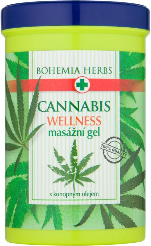 Bohemia Gifts & Cosmetics Cannabis gel para masaje con aceite de cáñamo