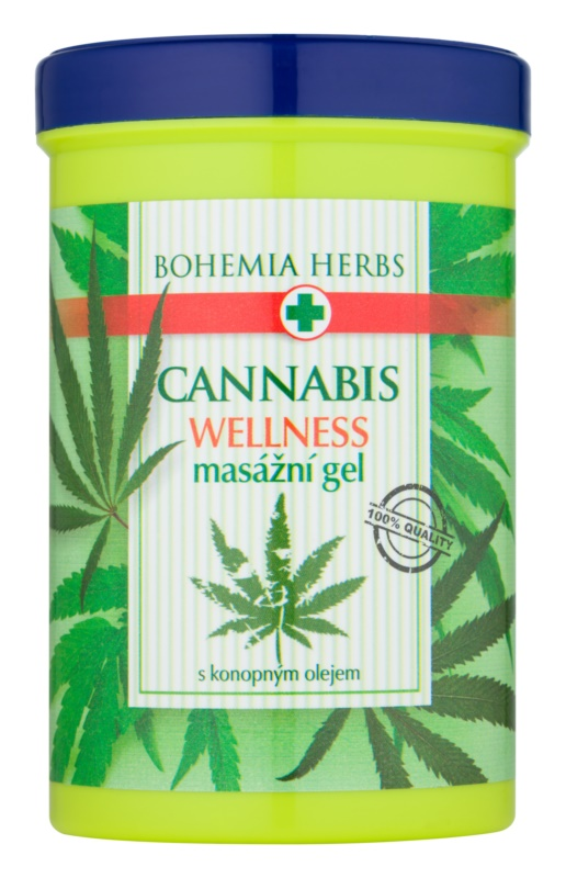 Bohemia Gifts & Cosmetics Cannabis masážní gel s konopným olejem