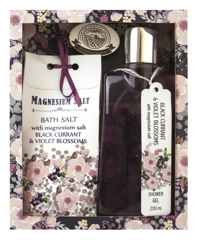 Bohemia Gifts & Cosmetics Magnesium Salt Black Currant & Violet Blossoms set cosmetice I.