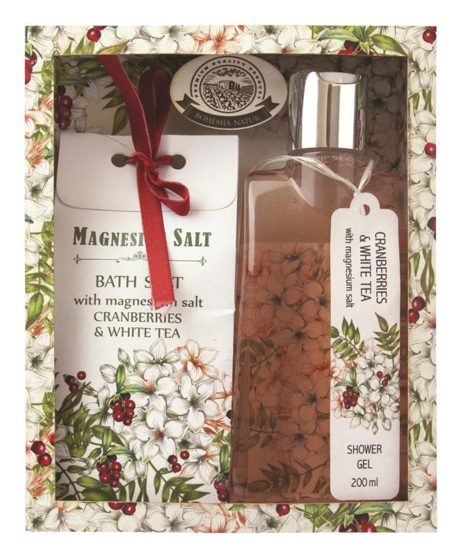 Bohemia Gifts & Cosmetics Magnesium Salt Cranberries & White Tea Cosmetic Set I.