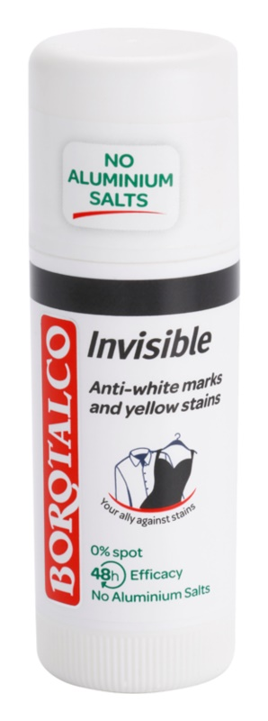 Borotalco Invisible čvrsti dezodorans protiv bijelih i žutih mrlja