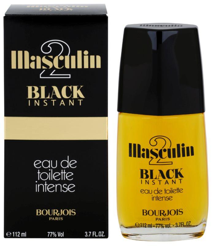 Bourjois Masculin Black Instant eau de toilette férfiaknak 112 ml
