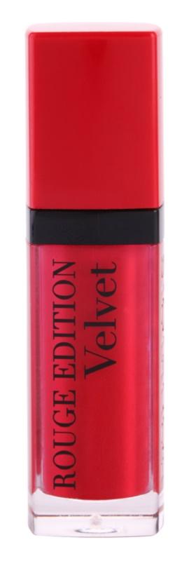 Bourjois Rouge Edition Velvet flüssiger Lippenstift mit Matt-Effekt