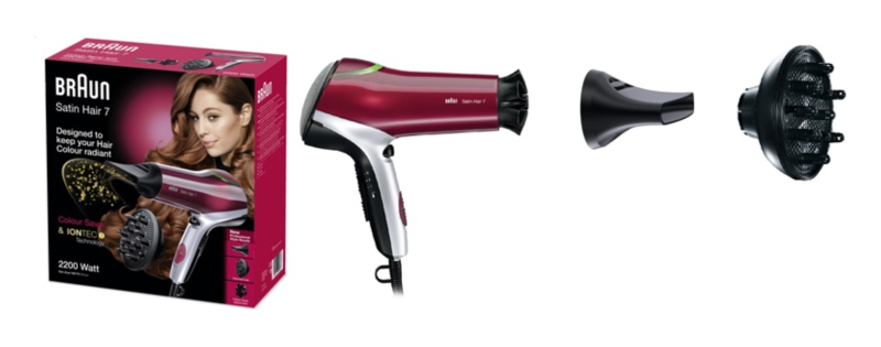 BRAUN SATIN HAIR 7 COLOUR HD 770 secador de pelo  a96734e85316