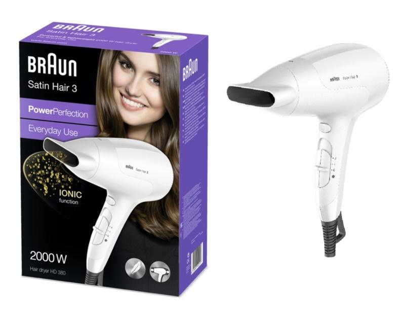 Braun Satin Hair 3 HD 380 secador de cabelo