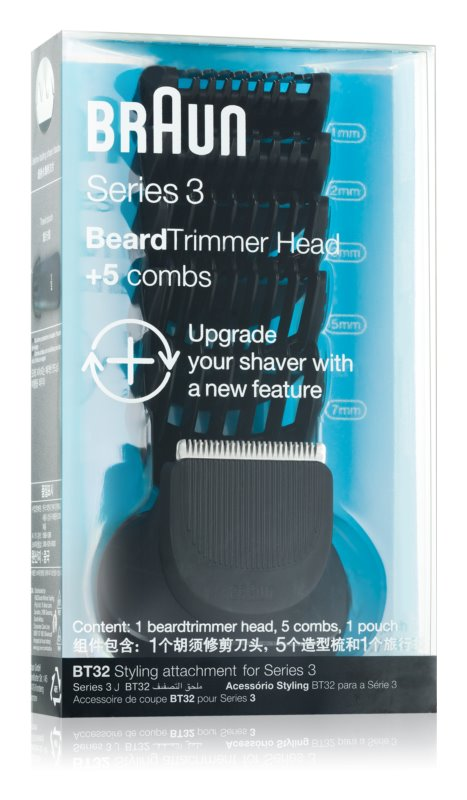 Braun Series 3  Shave&Style BT32 Trimming Head + 5 Attachments