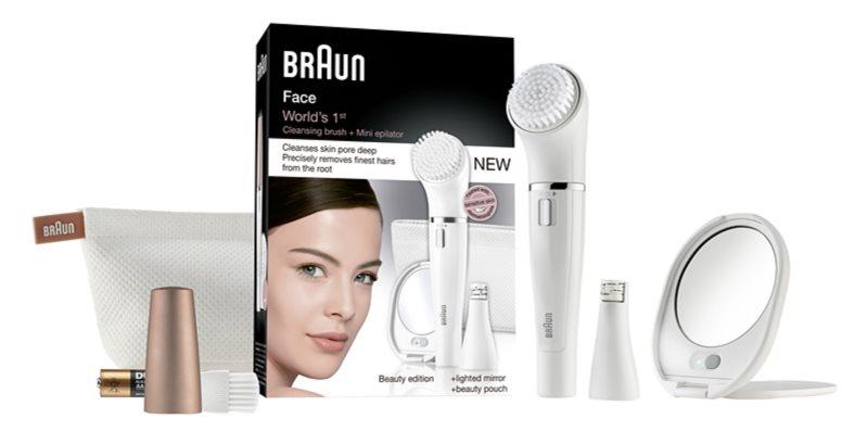 Braun Face  831 depilator z nasadką oczyszczającą do twarzy