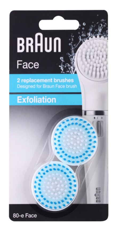 Braun Face  80-e Exfoliation nadomestne glave 2 ks
