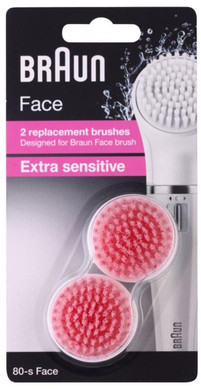 Braun Face  80-s Extra Sensitive náhradné hlavice 2 ks