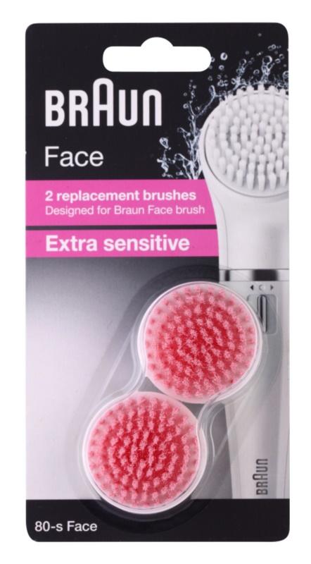 Braun Face  80-s Extra Sensitive tartalék kefék 2 db
