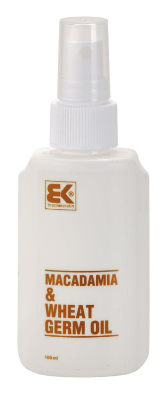 Brazil Keratin Macadamia & Wheat Germ Oil huile cheveux et corps
