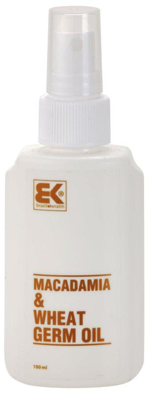 Brazil Keratin Macadamia & Wheat Germ Oil Olie  voor Haar en Lichaam
