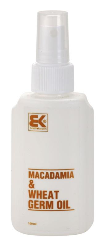 Brazil Keratin Macadamia & Wheat Germ Oil olio per capelli e corpo