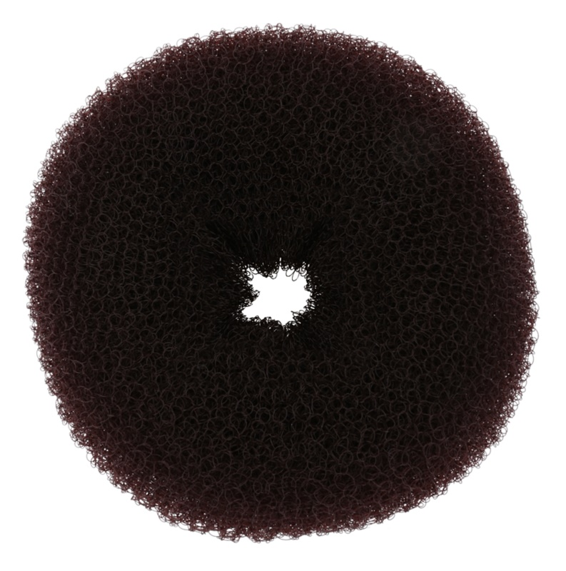 BrushArt Hair Donut anel castanho para cabelos