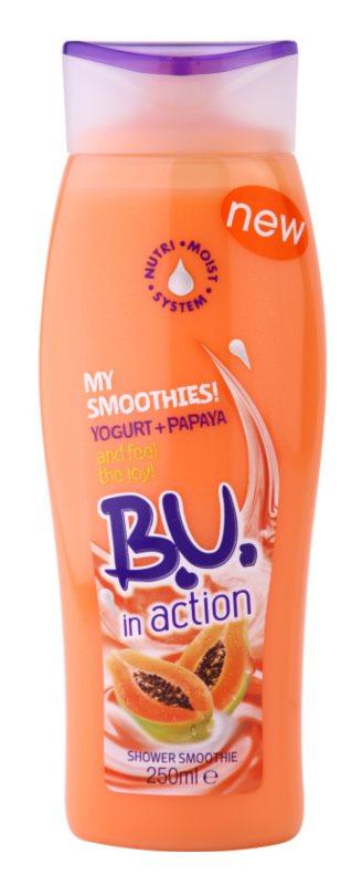 B.U. In Action - My Smoothies! Yogurt + Papaya sprchový gel pro ženy 250 ml
