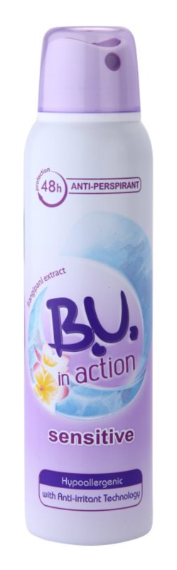 B.U. In Action Sensitive anti-transpirant voor Vrouwen  150 ml