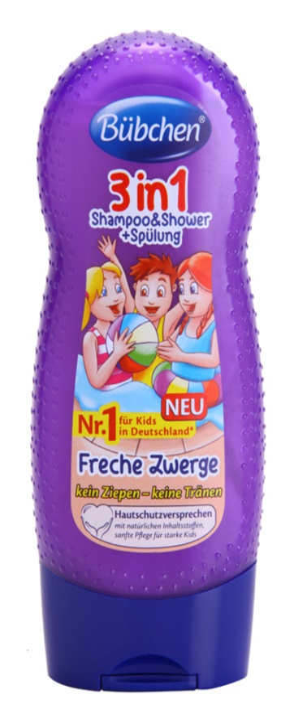 Bübchen Kids szampon, odżywka do włosów i żel pod prysznic 3w1