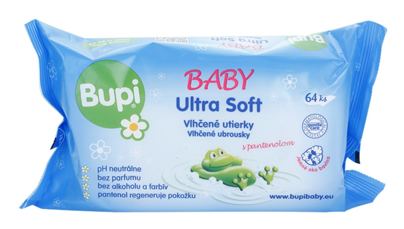 Bupi Baby Ultra Soft finom nedves törlőkendők gyermekeknek