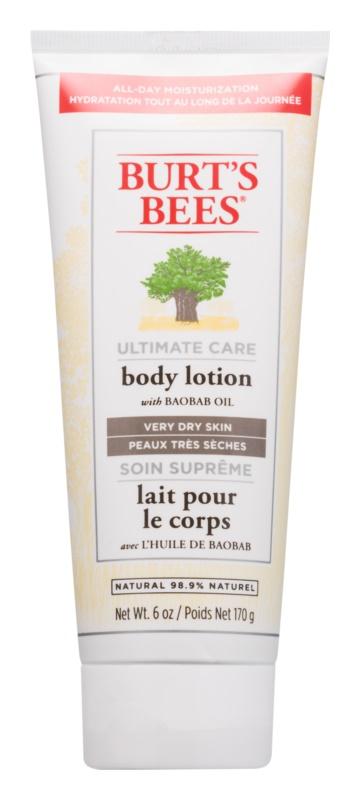 Burt's Bees Ultimate Care testápoló tej a nagyon száraz bőrre