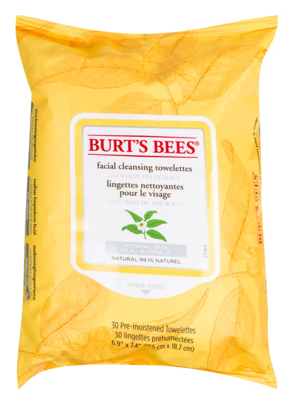 Burt's Bees White Tea vlhčené čistiace obrúsky