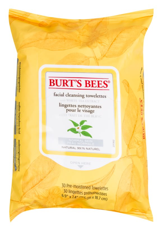 Burt's Bees White Tea Vochtige Reinigings Doekjes