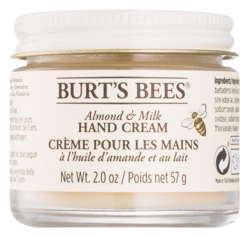 Burt's Bees Almond & Milk creme de mãos com óleo de amêndoas