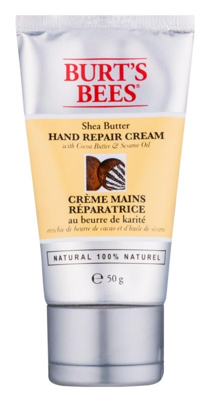 Burt's Bees Shea Butter Cocoa Butter & Sesame Oil crema per le mani con burro di cacao