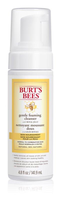 Burt's Bees Skin Nourishment rozjasňujúca čistiaca pena pre normálnu až zmiešanú pleť