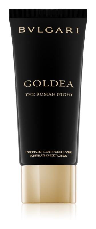 Bvlgari Goldea The Roman Night telové mlieko pre ženy 100 ml  s trblietkami