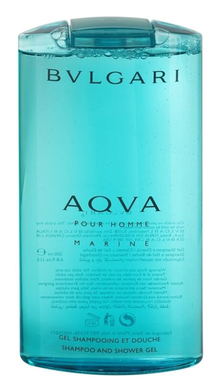 Bvlgari AQVA Marine Pour Homme sprchový gél pre mužov 200 ml