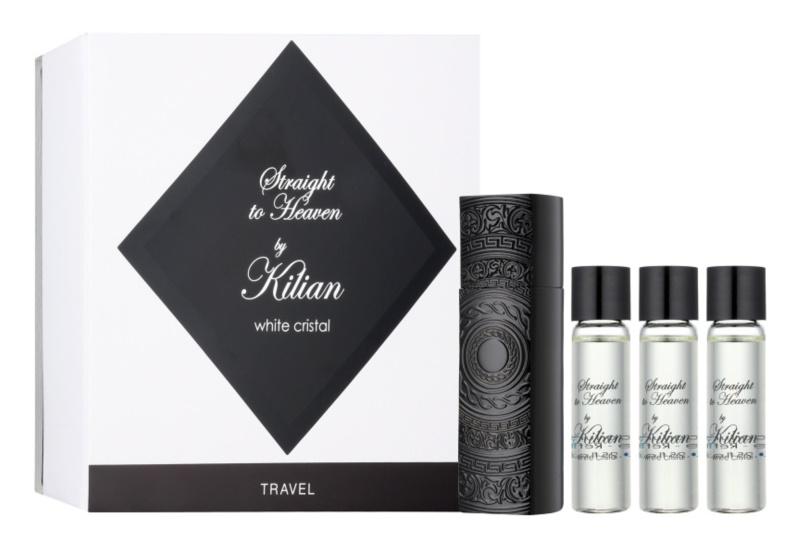 By Kilian Straight To Heaven, white cristal eau de parfum pentru barbati 4 x 7,5 ml (1x reincarcabil + 3x rezerva)