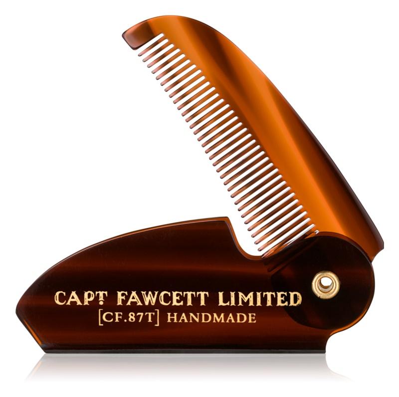 Captain Fawcett Accessories skladací hrebeň na fúzy