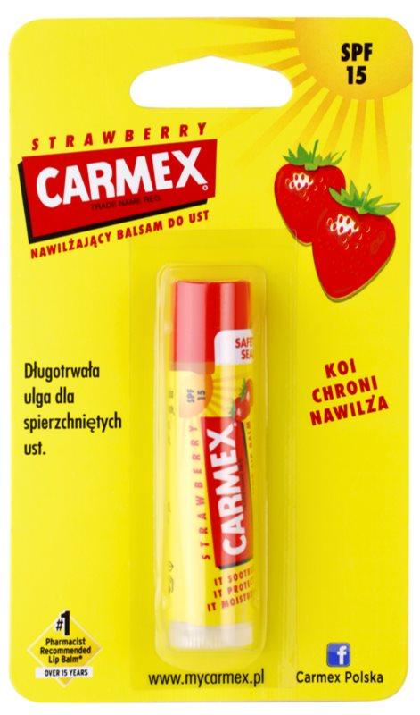 Carmex Strawberry feuchtigkeitsspendender Balsam-Stick für die Lippen LSF 15