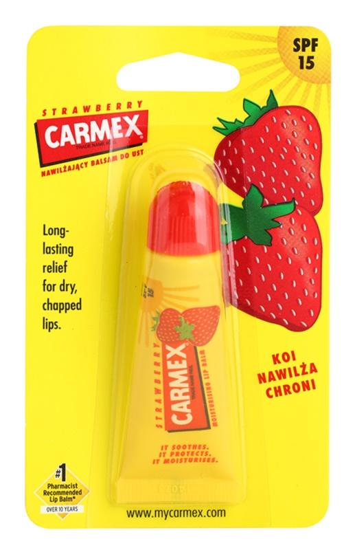 Carmex Strawberry balzam za usne u tubi SPF 15