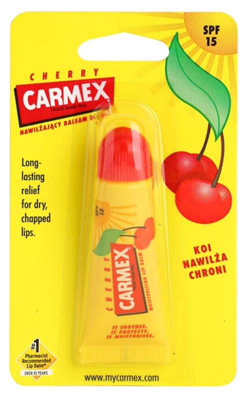 Carmex Cherry bálsamo labial en tubo SPF 15