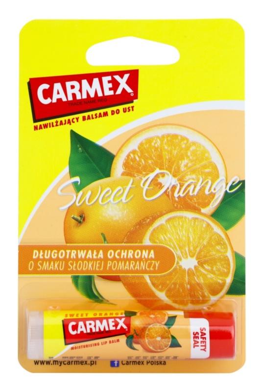 Carmex Sweet Orange bálsamo hidratante para labios en barra