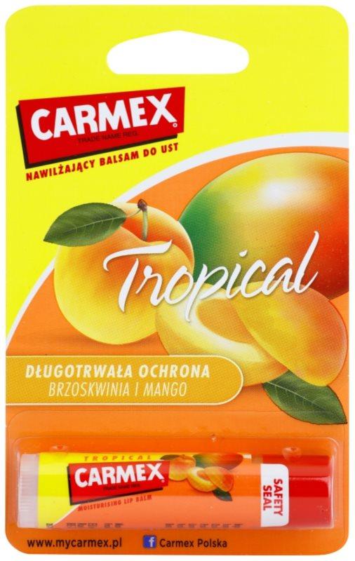 Carmex Tropical bálsamo hidratante para labios en barra