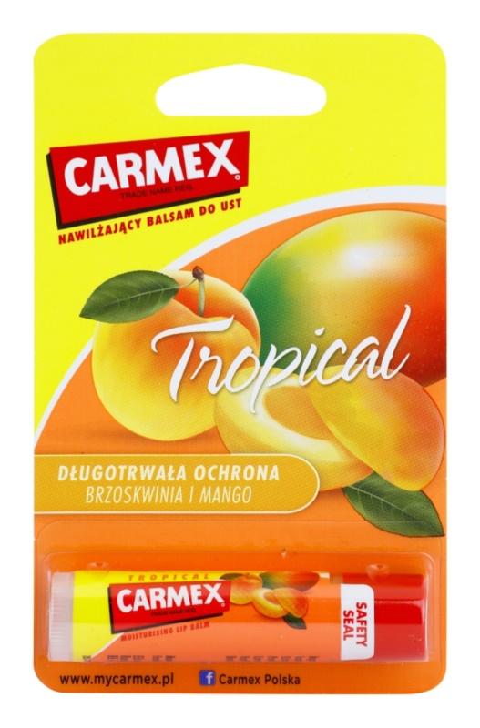 Carmex Tropical vlažilni balzam za ustnice v paličici