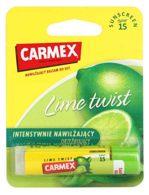 Carmex Lime Twist baume à lèvres hydratant en stick SPF 15