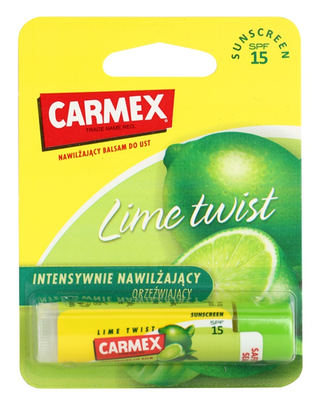 Carmex Lime Twist hidratáló ajakbalzsam ceruzában SPF15