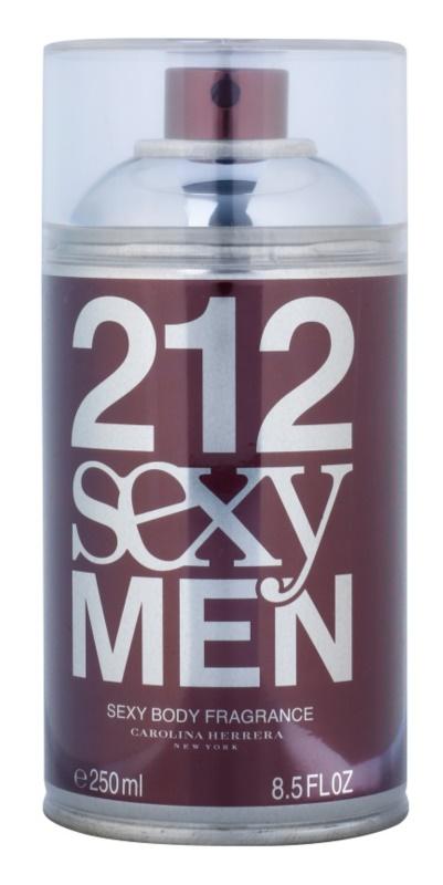 Carolina Herrera 212 Sexy Men tělový sprej pro muže 250 ml