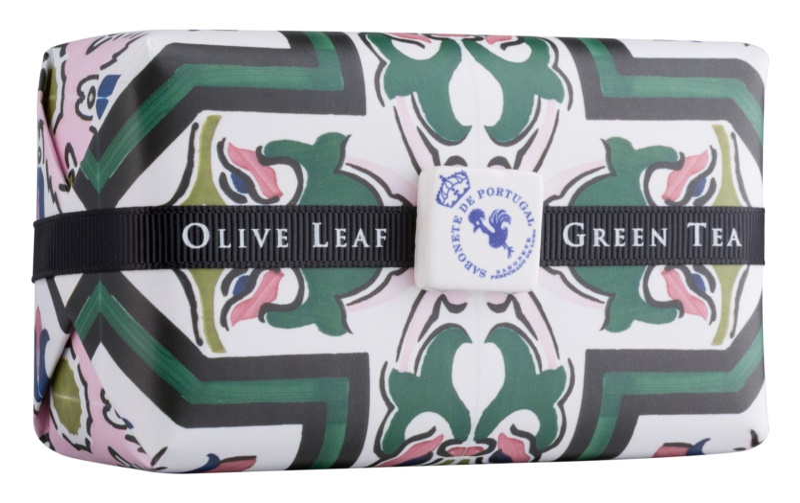 Castelbel Portuguese Tile Olive Leaf & Green Tea Bar Soap