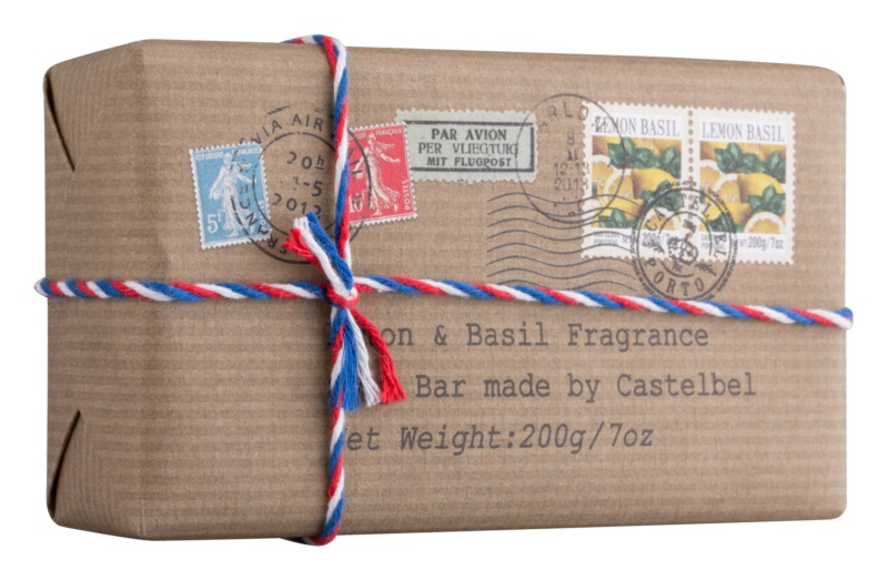 Castelbel Postcards Lemon & Basil Bar Soap For Hands
