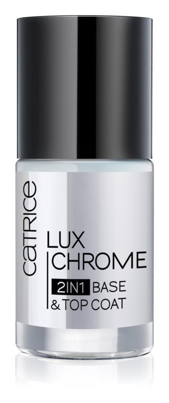 Catrice Luxchrome Base and Top Coat Nail Polish