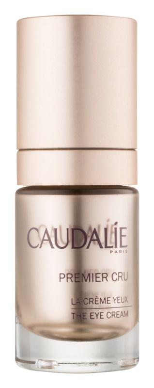 Caudalie Premier Cru Anti-Falten-Augencreme zur Linderung von Schwellungen und dunklen Augenringen