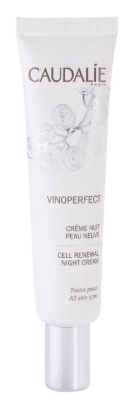 Caudalie Vinoperfect rozjasňujúci nočný krém proti pigmentovým škvrnám