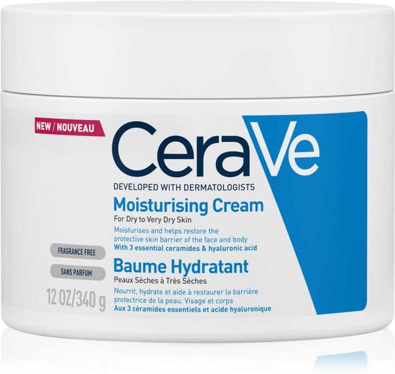 CeraVe Moisturizers ενυδατική κρέμα για σώμα και πρόσωπο για ξηρό έως πολύ ξηρό δέρμα