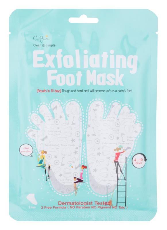 Cettua Clean & Simple Peeling-Maske für rissige Fußsohlen + Strümpfe
