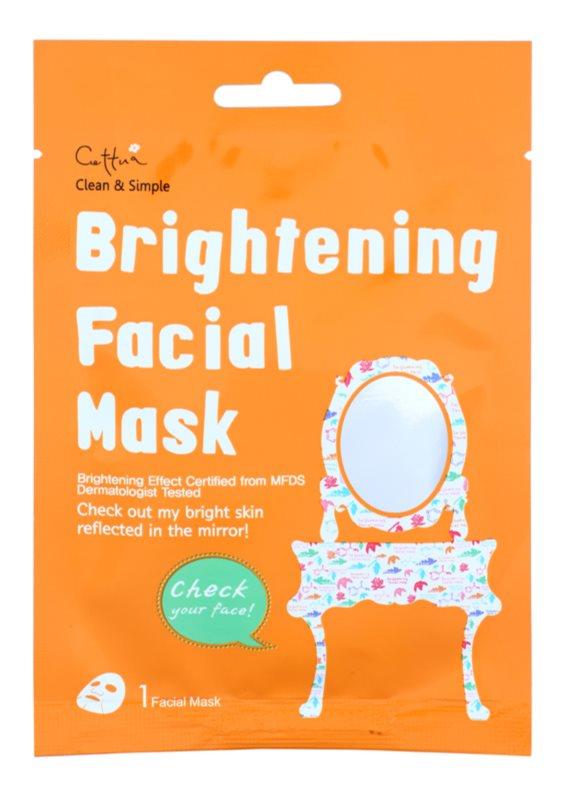 Cettua Clean & Simple Sheet maska za posvjetljivanje