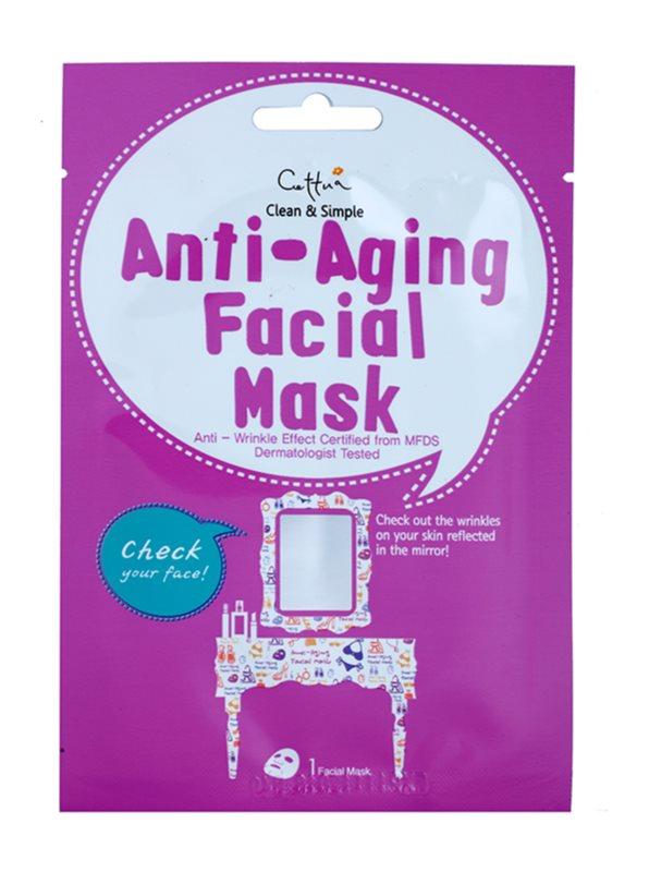 Cettua Clean & Simple masque tissu effet anti-rides